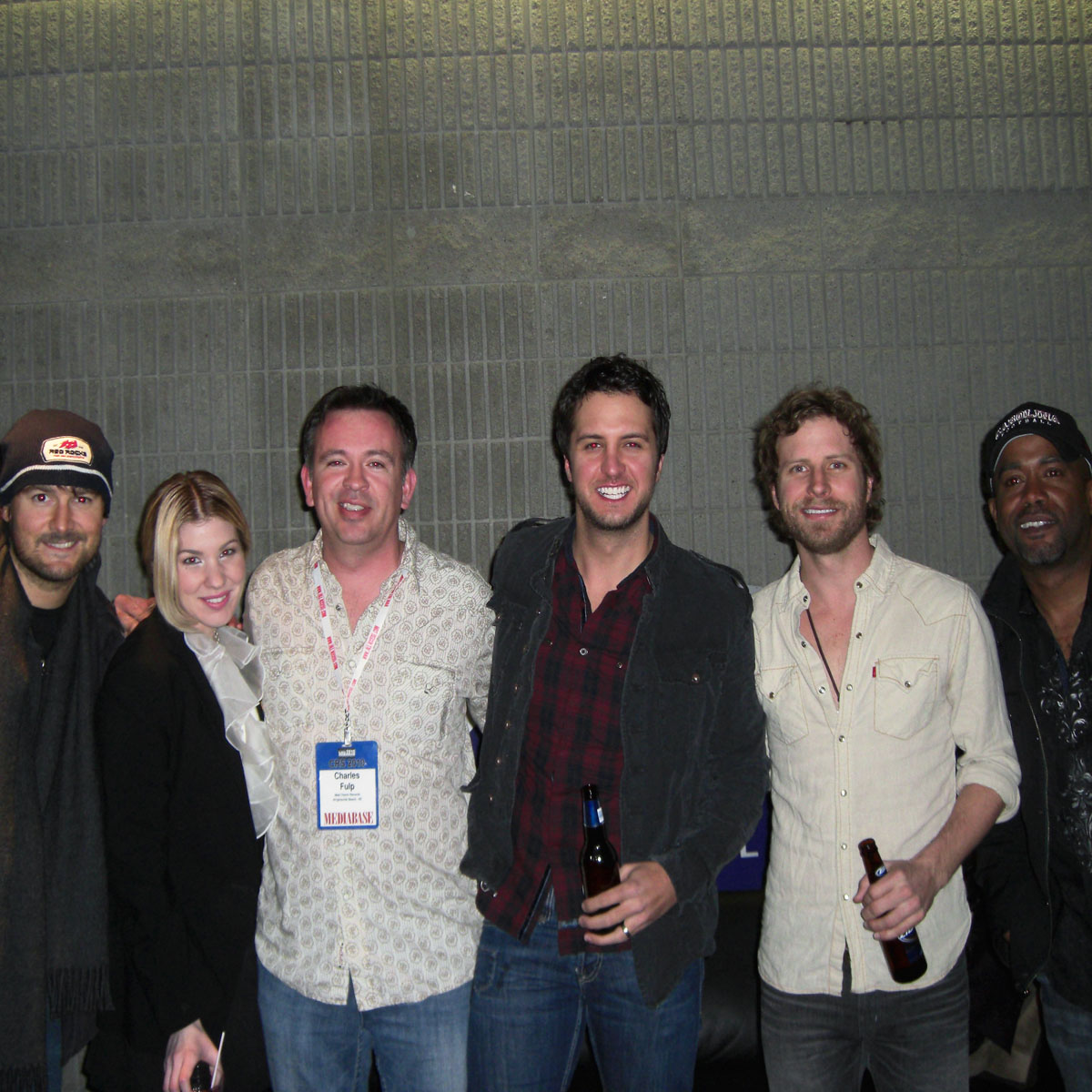Eric Church, Emily West, Luke Bryan, Dierks Bentley and Darius Rucker.